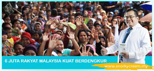 6 juta rakyat Malaysia kuat berdengkur